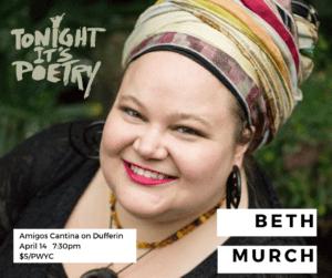 Promo photo of spoken word artist Beth Murch