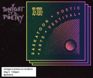 Saskatoon Poetic Arts Festival Logo and Tonight It's Poetry Logo