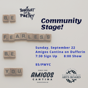 Community Stage - Tonight It's Poetry